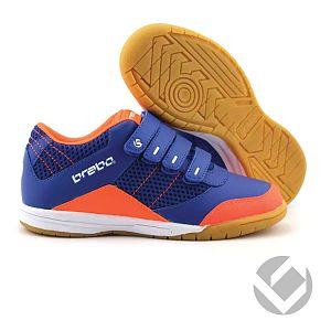 Brabo Indoor Velcro Shoe Fluo Oranje/RBI