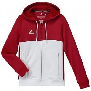 Adidas T16 Hoody Y Rood-Wit